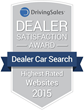"Dealer Car Search Receives ""Highest Rated"" DrivingSales Dealer Satisfaction Award"