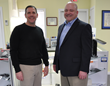Charlie Collins and Scott Krug inside Vision Dynamics, which was just acquired by New England Low Vision & Blindness