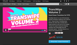 FCPX - Apple Final Cut Pro X - TransWipe Volume 2