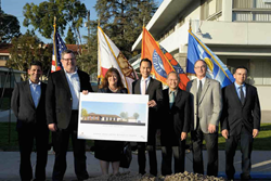 Jamboree, United Methodist Church of Garden Grove, US Bank, HUD, and the City of Garden Grove break ground on Wesley Village, a new multi-use urban community for multigenerational affordable housing for families & senior age 62+ with community  services.
