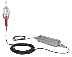 Explosion Proof Hand Lamp Equipped with a Class 1 Division 1 Transformer