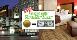 "First-of-its kind promotion in Central New York offers Canadians ""at par"" value pricing now through April 30th on lodging at Holiday Inn Syracuse/"