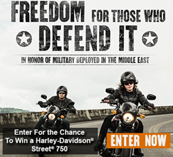 Military AutoSource Harley-Davidson Street 750 Giveaway