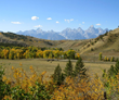 September is an ideal time to be in Jackson Hole as the Teton Mountain range boasts colorful foliage, providing inspiration for festival artists and art lovers.
