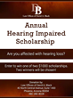 Phoenix Law Firm Offers Scholarships for Hearing Impaired Individuals