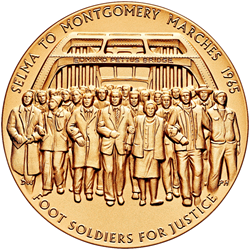 Foot Soldiers of the 1965 Selma to Montgomery Voting Rights Marches Medal Obverse