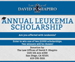 San Diego Criminal Defense Attorney to Award Annual Leukemia Scholarships