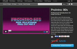 FCPX Plugins - ProIntro 80s - Pixel Film