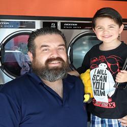 Carlos Rubalcaba, Owner of Rubalcaba Bros Coin Laundry, with his son Nate