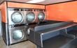 New Dexter Laundry Machines Near Folding Area in Renovated Rubalcaba Bros Coin Laundry