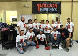 The PepWear screenprinting team celebrates One Million Imprints for 2015