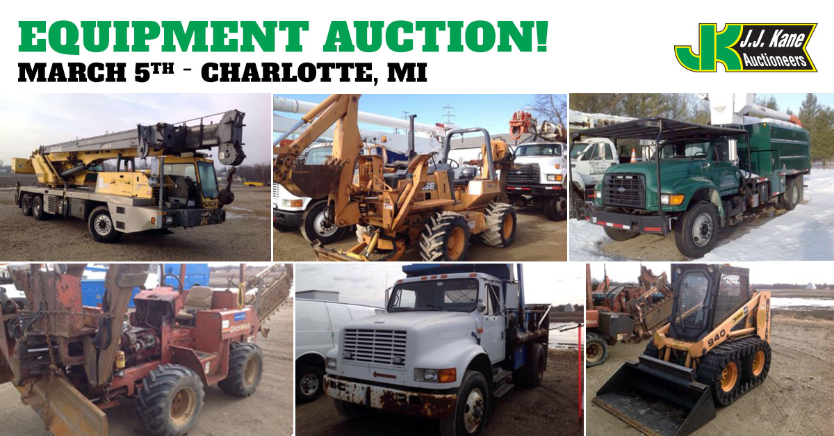 Car Auctions In Michigan >> Equipment and Auto Auction, Lansing, MI, March 5, 2016