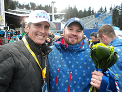 Dr. Brian and Steven Holcomb after winning Gold at 2010 Vancouver Olympics