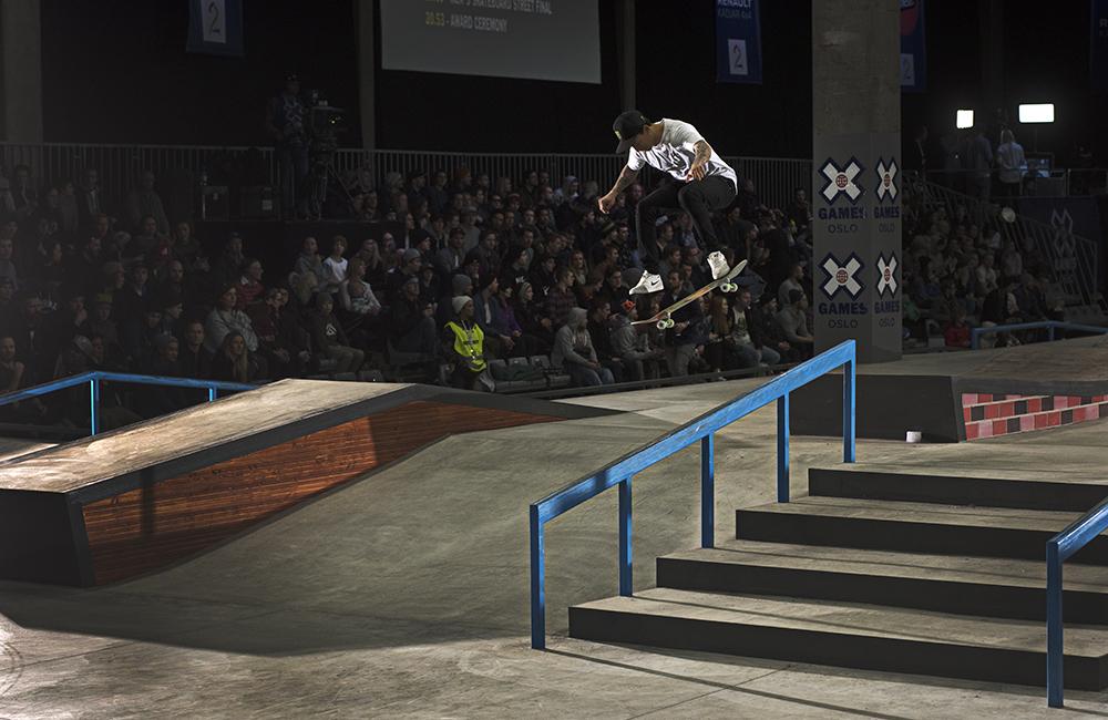 Monster Energys Nyjah Huston Wins Skateboard Street Gold
