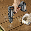 WORX 20-volt MaxLithium Drill & Driver installing decking