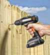 WORX 20-volt MaxLithium Drill & Driver fastening fence panels