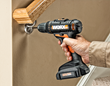 WORX 20-volt MaxLithium Drill & Driver attaching stair rail bracket