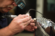 Precise craftsman Steve Heitman polishes an automotive lighting mold.