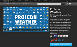 ProIcon Weather - Final Cut Pro X Effects