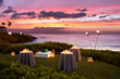 Four Seasons Resort Maui offers Ultimate Dinner experience: Oceanfront Naupaka, a private elevated tropical hideaway carved into the gently sloping cliff that descends to the Wailea beach.