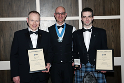 Star Refrigeration's Angus Gillies and John Clark win the Kenneth Lightfoot Medal 2016 for best research paper at the IOR Annual Dinner