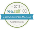 Cosmetic Plastic Surgeon S. Larry Schlesinger, MD, FACS Honored with 2015 RealSelf 100 Award