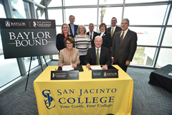 San Jacinto College and Baylor University Announce Partnership