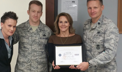 Donna Hugh Above It All Treatment Center Patriot Award