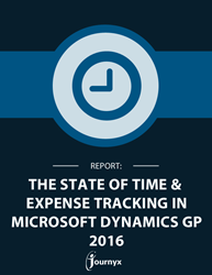 2016 State of Time and Expense Tracking for Microsoft Dynamics GP