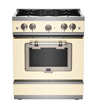 Big Chill Classic Stove - Cream with Satin Nickel