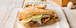Mushrooms, lemon, sun-dried tomatoes, parmesan, Swiss and spicy red pepper on ciabatta.