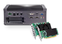 Turnkey video wall and digital signage solutions from Lanner incorporate  Matrox C-Series multi-display graphics cards.