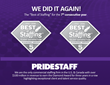 PrideStaff Named 3-Time Consecutive Winner of Inavero's 2016 Best Of Staffing® Diamond Awards For Client and Talent Satisfaction