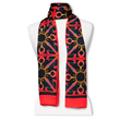 peace cashmere luxury scarf wear your word Mary DeArment orange black