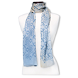 peace shalom cashmere luxury scarf wear your word Mary DeArment blue beige