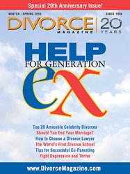 Divorce Magazine's 20th anniversary cover