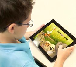 Imagine Learning student uses iPad
