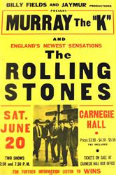 Original 1964 Rolling Stones New York City Carnegie Hall Concert Poster