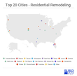 BuildFax Reveals the Top 20 US Cities for Residential Remodeling