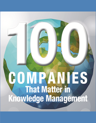 KMWorld Top 100 Companies that Matter in KM