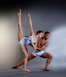 DBDT dancers Alyssa Harrington and Claude Alexander III in Furtherance choreographed by Kirven Douthit-Boyd. Photograph by Brian Guilliaux.