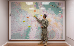 Members of the US Military use Magnatag's MagnaMaps to communicate and coordinate.
