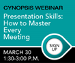 Cynopsis Career Webinar on March 30 – Presentation Skills: How to Master Every Meeting