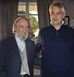Pier Franco Marcenaro and Andrea Bocelli