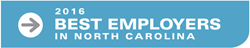 Best places to work, best employers, North Carolina