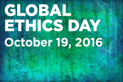 Global Ethics Day, October 19, 2016. Background photo, Shutterstock