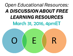 Open Educational Resources webinar save-the-date