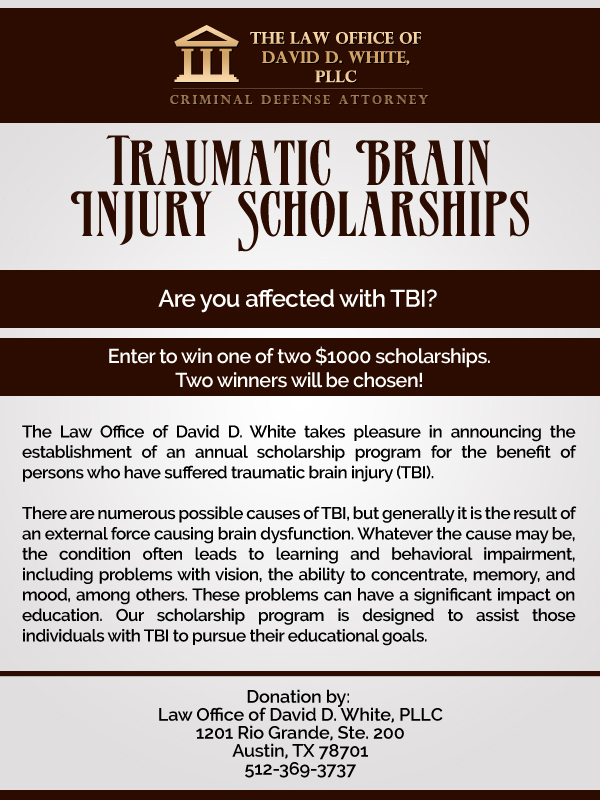 Texas Tech Scholarships >> Austin Attorney Announces Annual Traumatic Brain Injury Scholarships
