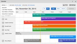 Employee time tracking and scheduling software