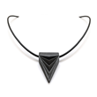 Black Steel Triangle Necklace by Loralyn Designs
